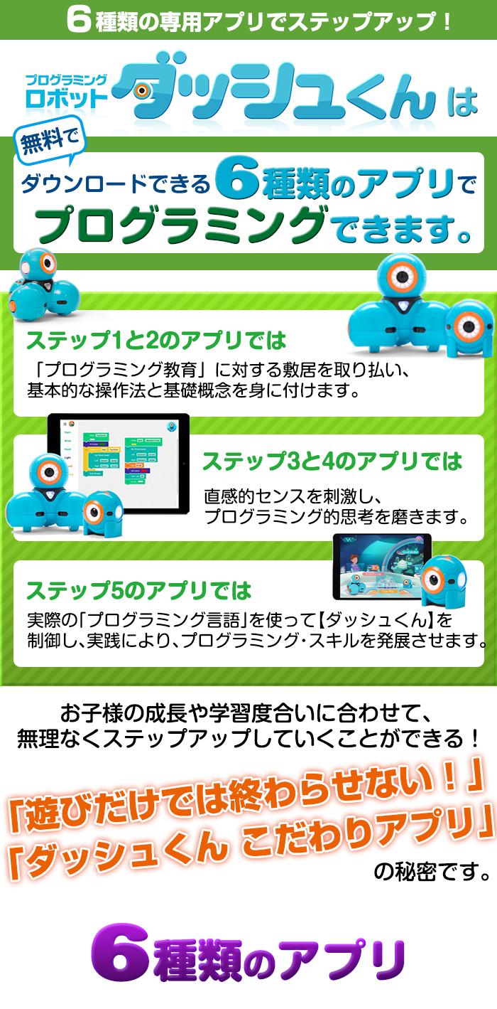 ダッシュくんのアプリは成長によって何年にも渡って遊べる充実のアプリ